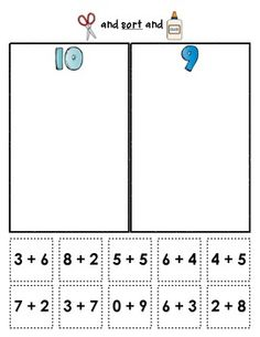 Sum Sorts {Early Math Sorting Series, Set #2}: These sorting sheets are a great way to provide extra practice with sums to 15... use in small groups, in math centers, or as homework options. $ #addition #sums #sorting