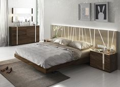 Exclusive Wood Luxury Bedroom Set Feat Light images ideas from Modern Bedroom Designs Luxury Bedroom Sets, Luxury Bedroom Furniture, Luxurious Bedrooms, Bedroom Decor, Bedroom Ideas, Bedroom Set Designs, Modern Bedroom Design, Contemporary Bedroom, Modern Bedrooms