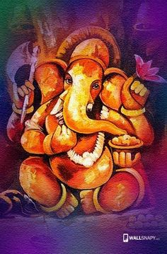 Lord Ganesha Paintings, Ganesha Art, Krishna Art, Ganesha Sketch, Shri Ganesh, Kerala Mural Painting, Indian Art Paintings, Ganesha Pictures, Canvas Painting Tutorials
