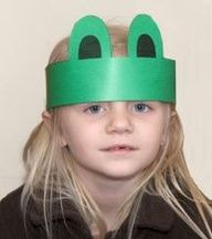 preschool frog crafts - headband