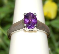 Sparkling Royal Purple Amethyst Ring Size 7 by WindstoneDesigns, $38.95