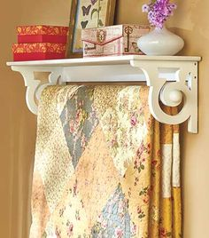 Learn how to display your quilts and handmade blankets such as afghans and more...