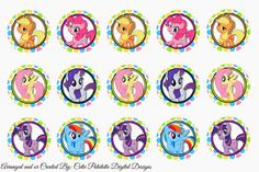 My Little Pony bottlecap image sheet