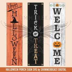 Items similar to Halloween Porch Sign SVG Bundle Halloween Wood Signs, Fröhliches Halloween, Holidays Halloween, Halloween Decorations, Pallet Ideas For Halloween, Happy Halloween Sign, Pallet Decorations, Halloween Bedroom, Rustic Halloween