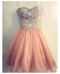 bedazzled pink dress on wanelo