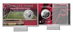 Atlanta Falcons Silver Coin Card - Stadium