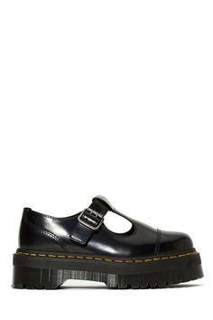 Dr. Martens Bethan Shoe · Black Leather FlatsBlack ...