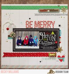 NoelMignon.com Layouts and Projects: Merry Christmas Eve and how to scrap your holiday card