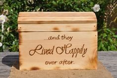 Extra Large Rustic Wedding Card Box-Treasure Chest on Etsy, $110.00