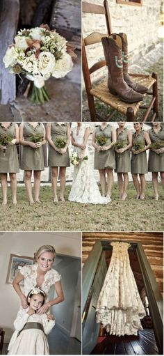 Beautiful for a military wedding theme! Love these colors! Elegant camo colors!