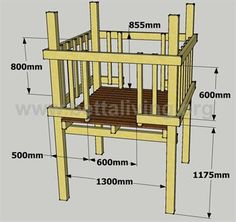 Child's play fort diagram, walls and floor. Plus a link for adding a roof Kids Playhouse Plans, Backyard Playhouse, Build A Playhouse, Backyard Fort, Backyard For Kids, Cubby Houses, Play Houses, Play Fort, Kids Yard