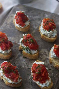 ... tomato and herbed ricotta crostini burst cherry tomato and herbed