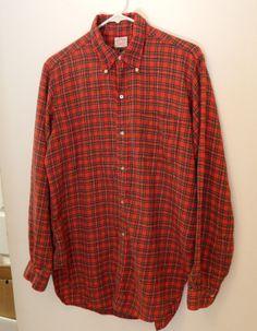 Brooks Brothers - BrooksFlannel Red Plaid Shirt