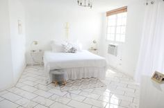 Tile in bedroom? Have to admit this is pretty.