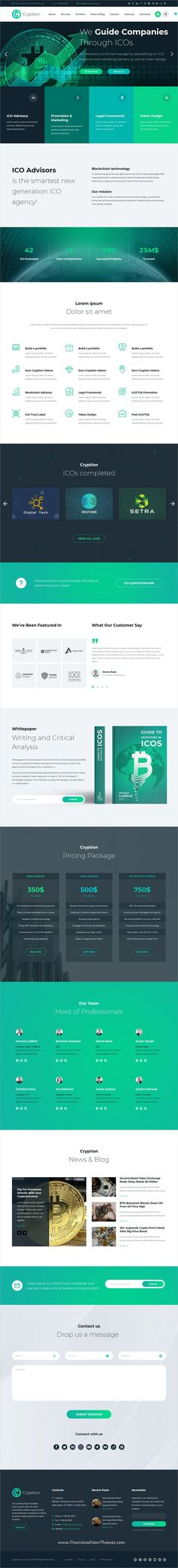 Cryption is a clean and modern design 6in1 responsive #WordPress theme for #bitcoin, #Crypto currency #Investments, Blockchain and #ICO Consulting agencies website to download & live preview click on image or Visit