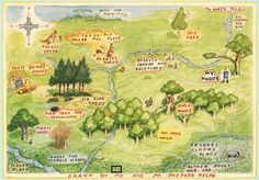 Pilgrimage 2 c real #Pooh at #NY Public Library sparks #journey by #classic #book #illustration #100acrewood #map #Eeyore http://www.gold-boat.com/classic-illustrations-for-travelers/