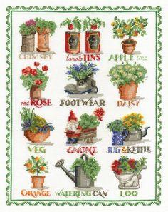 Gardening Sampler Cross Stitch Kit - £24.75 on Past Impressions | by DMC