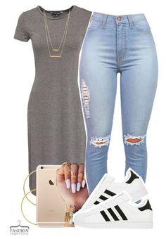 Модное сочетание: платье + кеды