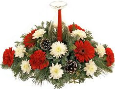 Christmas Flower Arrangements Centerpieces | Christmas Flowers, Table Centerpiece Arrangements and Gift Baskets