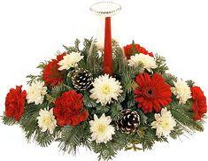 Christmas Flower Arrangements Centerpieces | Christmas Flowers, Table Centerpiece Arrangements and Gift Baskets