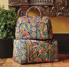 When shopping for a Vera Bradley travel bag, your hardest travel decision may be which piece of luggage to carry, they're all so beautiful and...
