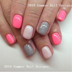 Nail art Christmas - the festive spirit on the nails. Over 70 creative ideas and tutorials - My Nails Cute Summer Nail Designs, Cute Summer Nails, Cute Nails, Pretty Nails, Summer Design, Shellac Nails, Nail Polish, Gel Manicure, Nail Art Designs