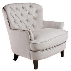 Found it at Wayfair - Home Loft Concept Jerome Tufted Armchairhttp://www.wayfair.com/Home-Loft-Concept-Jerome-Tufted-Arm-Chair-X1716430-NFN1333.html?refid=SBP