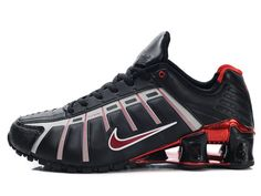 Chaussures Nike Shox NZ Noir/Gris/Rouge [nike_12074] - €49.95 : Nike Chaussure Pas Cher,Nike Blazer and Timerland www.facebook.com/...
