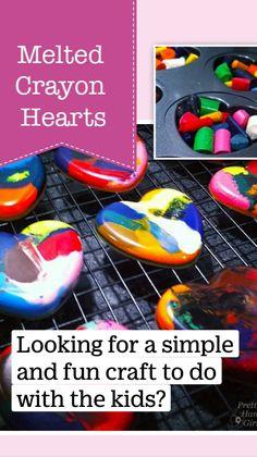 Cute Kids Crafts, Fun Crafts To Do, Holiday Crafts For Kids, Valentine Day Crafts, Diy For Kids, Valentines, Grandchildren, Grandkids, Melted Crayon Heart