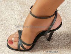 Simple black #high #heel #sandals #pantyhose #sexy #ladies #women #ladyproducts #lush #smooth #fashion #stunning #legs #glamour