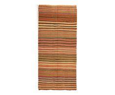 "Vintage Anatolian Kilim in Colorful Stripes 4'8"" x 10'5"" – HW   M"