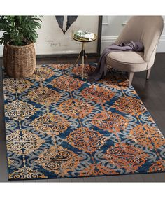 Safavieh Blue & Orange Liam Rug