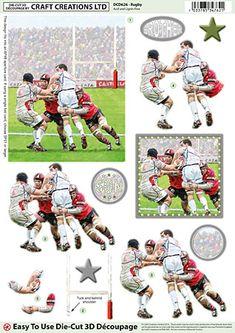Rugby Die-Cut Découpage DCD626