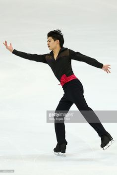 Takahiko Kozuka of Japan skates during the Men's Short Program on day one of the Rostelecom Cup ISU Grand Prix of Figure Skating 2015 at the Luzhniki Palace of Sports on November 20, 2015 in Moscow, Russia.