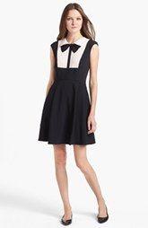 Ted Baker London Bow Collar Jersey A-line Dress