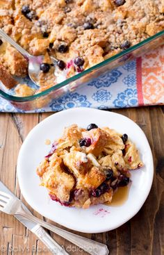 "There's not one word more perfect than ""unbelievable"" to describe this overnight blueberry french toast casserole. Perfect make-ahead recipe for busy mornings!"