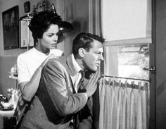 Invasion of the Body Snatchers (1956) Miles and Becky witness through a window people from all around town move as one toward at a large traffic island where they gather........ http://scififilmfiesta.blogspot.com.au/2015/04/invasion-of-body-snatchers-1956.html