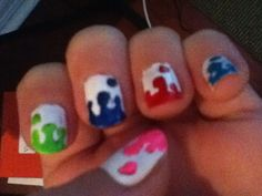Nail polish design!! Paint drips. Found this adorable design on Beatylish.com