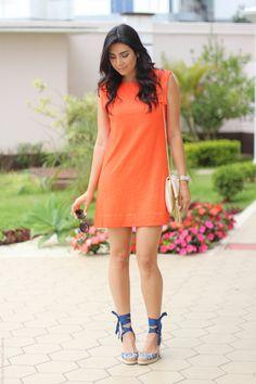 look vestido laranja e espadrille fashion estilo moda borboletas na carteira-6