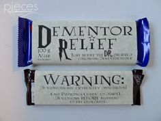 Pieces by Polly: Harry Potter Valentine Printable - Dementor Relief Chocolate Bar Wrappers Harry Potter Diy, Harry Potter Gift Box, Harry Potter Teachers, Harry Potter Motto Party, Harry Potter Dementors, Harry Potter Candy, Harry Potter Thema, Harry Potter Halloween Party, Harry Potter Images