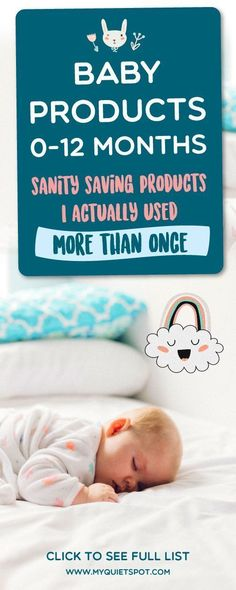 Baby products I actually used MORE THAN ONCE and found really helpful. New mom sanity saving products you should most definitely buy and try. | baby gear | new parent advice | baby products | #newborn #momlife #parenting #baby