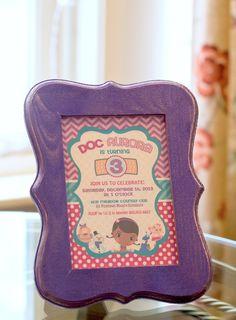 Doc McStuffins themed birthday party with Lota of Fun Ideas via Kara's Party Ideas   KarasPartyIdeas.com #doctorparty #girlpartyideas #docmc...