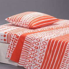 TRACE Coral Pure Cotton Flat Sheet + Pillowcase