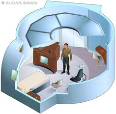 Captain Pike's quarters - U.S.S. Enterprise NCC-1701 - 2254