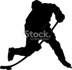 Hockey Slapshot Silhouette Lizenzfreie Vektorillustrationen