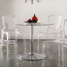 Caley Modern LED Round Dining Table   Overstock.com