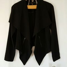 Black Jacket with Zippers Has flattering shape. Polyester. Boutique  Jackets & Coats Blazers
