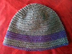 Easy crochet hat. Great for beginners.  My boys (now men) still love these things.