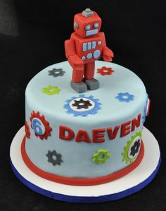 21+ Wonderful Photo of Robot Birthday Cake . Robot Birthday Cake Robot Birthday Cake Sci Fi Made My Head Implode Pinterest  #HappyBirthdayCake