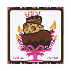A really cute cake illustration by artist Julie Farrell. Birthday Party Invitations, Birthday Party Themes, Cake Illustration, Whimsical Halloween, Popular Birthdays, Birthday Cake With Candles, Youre Invited, Cute Cakes, 21st Birthday